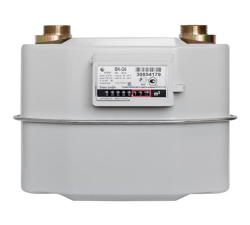 Диафрагменный счетчик газа с механической термокомпенсацией BK-G10T
